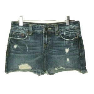Aeropostale Mini Jean Skirt Distressed 00